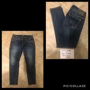 Silver Suki Ankle Skinny Jeans